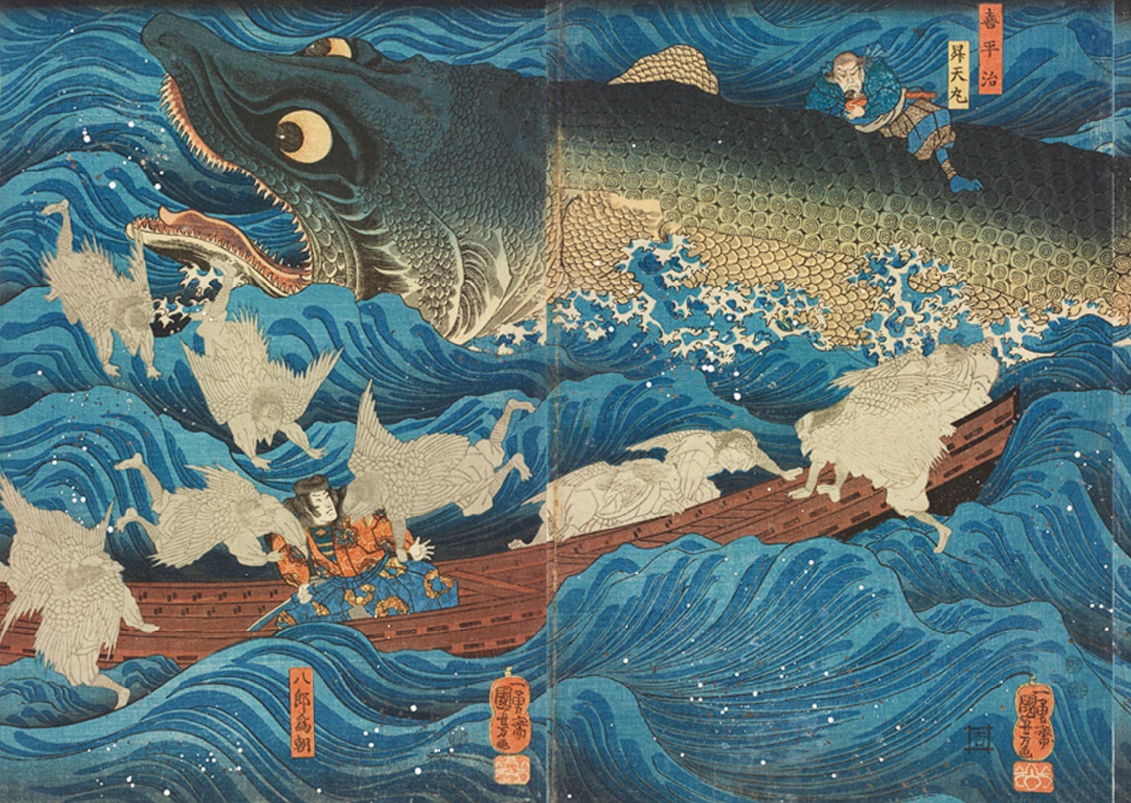 Stupisci il popolo di Edo e fallo ridere, Kuniyoshi!