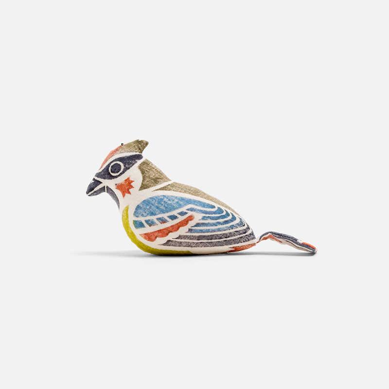 pupazzo-di-takayama-uccellino-cresta-verde