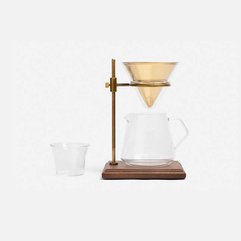 drip-coffee-brewer-brass-stand-set-4-cups