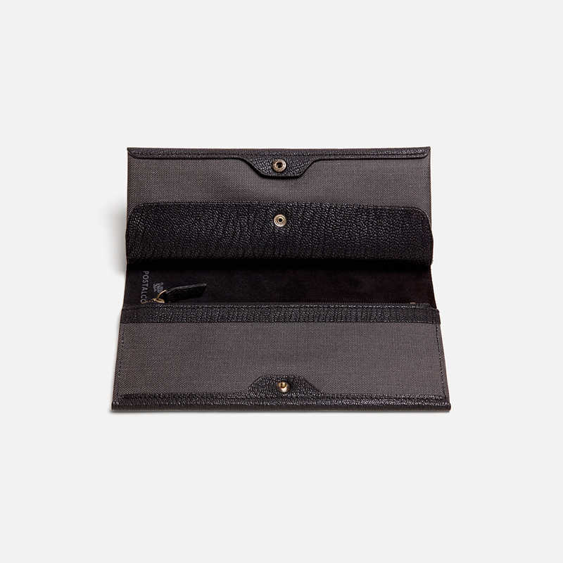 postalco-goatskin-long-wallet-black
