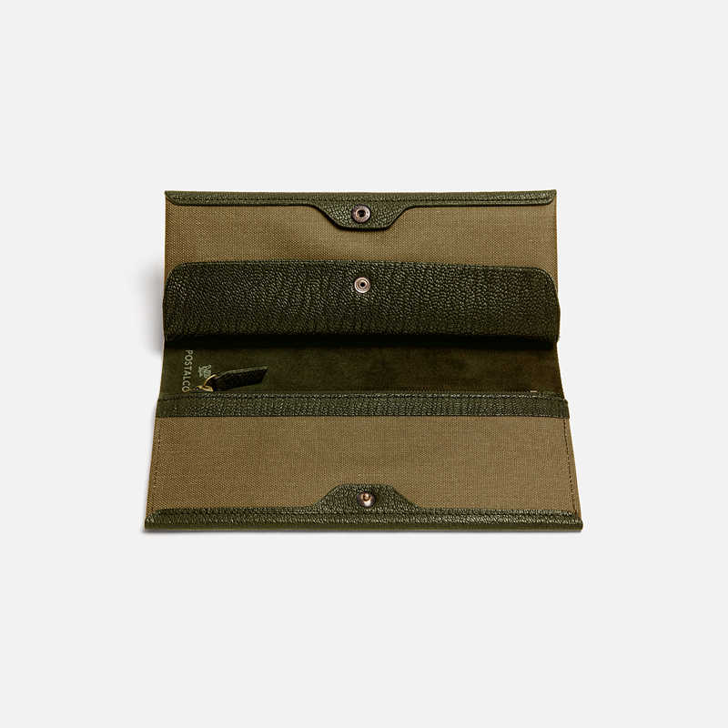 postalco-goatskin-long-wallet-moss-green